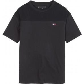 Tommy Hilfiger kids girls sports pique shirt in de kleur zwart