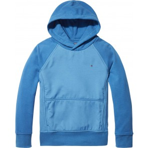 Tommy Hilfiger hoodie trui met logo in de kleur blauw