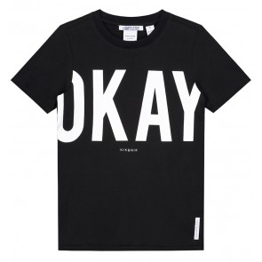 NIK en NIK t-shirt 'Okay' in de kleur zwart