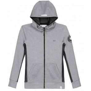 NIK en NIK sweatvest 'Rolf hoodie' in de kleur grijs