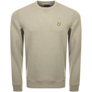 Lyle and scott sweater trui in de kleur green stone lichtgroen