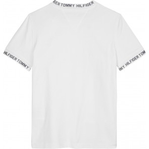 Tommy Hilfiger kids boys shirt met letterprint in de kleur bright white wit