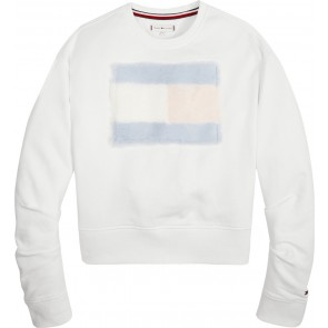 Tommy Hilfiger kids girls faux fur sweater trui in de kleur bright white wit