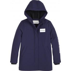 Calvin Klein kids girls jas bonde fleece hood parka in de kleur donkerblauw