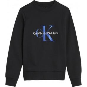 Calvin Klein kids boys sweater trui met logo print in de kleur zwart