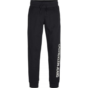 Calvin Klein kids boys cotton terry sweatpants in de kleur zwart