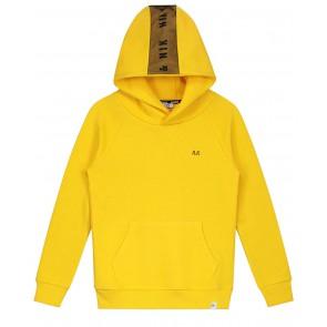 Nik en Nik Boys percy hoodie met logo bies in de kleur geel