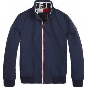 Tommy Hilfiger kids boys essential jacket tussenjas in de kleur navy blue donkerblauw