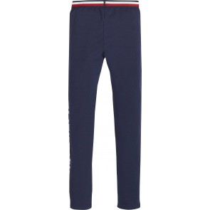 Tommy Hilfiger kids girls essential logo legging in de kleur donkerblauw