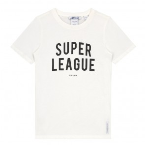 Nik en Nik super league t-shirt in de kleur off white