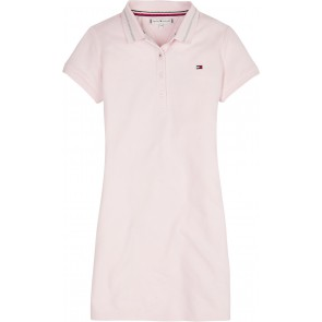 Tommy Hilfiger kids girls polo dress jurk in de kleur zachtroze