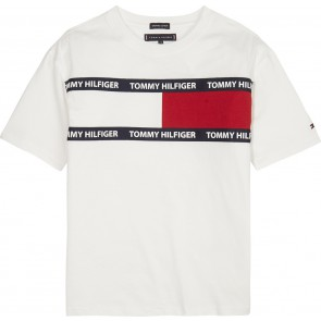Tommy Hilfiger t-shirt met logo in de kleur wit