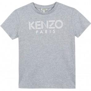 Kenzo kids boys sweatshirt met logo in de kleur grijs