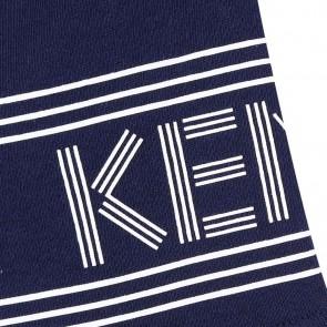 Kenzo kids sweatshort korte broek met logo in de kleur donkerblauw
