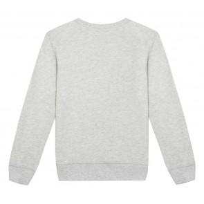 Kenzo kids girls sweater tijger kop in de kleur grijs