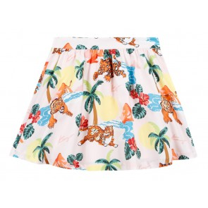 Kenzo kids girls rok met all over print in de kleur multicolor