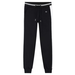 NIK en NIK x Beautynezz 'shopping sweatpants' met witte streep in de kleur zwart