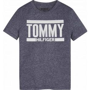 Tommy Hilfiger t-shirt met logo in de kleur blauw