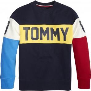 Tommy Hilfiger unisex sweater trui met colorblocking en logo in de kleur multicolor