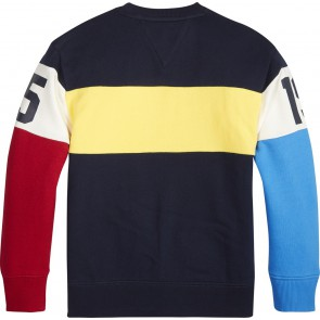 Tommy Hilfiger unisex sweater trui met colorblocking en logo in de kleur multicolor