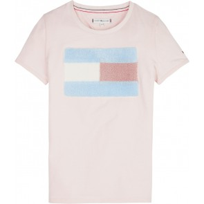 Tommy Hilfiger t-shirt met logo in de kleur lichtroze