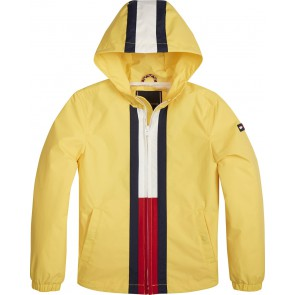 Tommy Hilfiger unisex zomerjas met logo in de kleur geel
