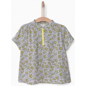 IKKS kids blouse top met citroenenprint in de kleur wit
