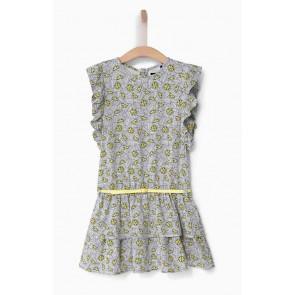 IKKS kids jurk met citroenenprint en riempje in de kleur wit