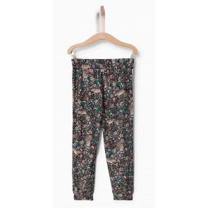 IKKS kids pantalon met bloemenprint en streep in de kleur multicolor