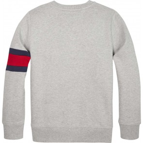 Tommy Hilfiger sweater trui flag sweatshirt in de kleur grijs