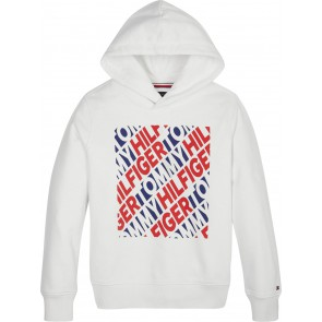 Tommy Hilfiger sweater trui fashion graphic hoodie in de kleur wit