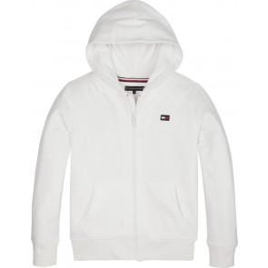 Tommy Hilfiger sweatervest hilfiger logo zip hoodie in de kleur wit
