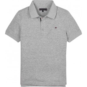 Tommy Hilfiger kids boys slimfit polo in de kleur grijs
