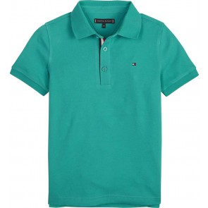 Tommy Hilfiger kids boys slimfit polo in de kleur groen