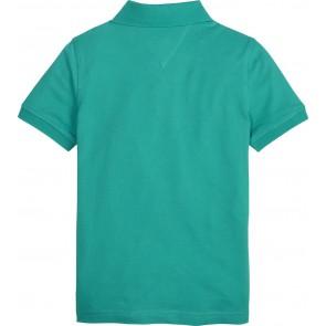 Tommy Hilfiger kids boys slimfit polo in de kleur groen