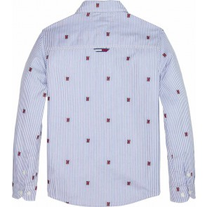 Tommy Hilfiger blouse met strepen fashion all over clipping in de kleur blauw
