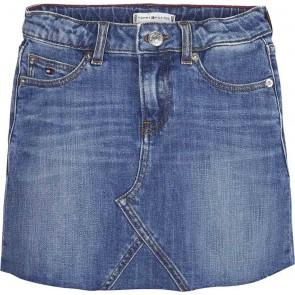 Tommy Hilfiger jeans rok Selena denim skirt in de kleur jeansblauw