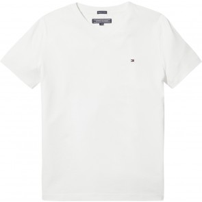Tommy Hilfiger solid white rib shirt in de kleur wit