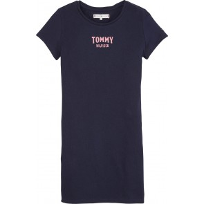 Tommy Hilfiger kids essential knit dress in de kleur donkerblauw