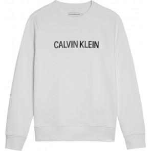 Calvin Klein kids sweater trui met logo print in de kleur wit