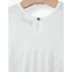 IKKS hemd singlet met broderie en tijgers in de kleur off white