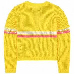 Billieblush cardigan vestje met pailletten in de kleur geel