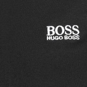 Hugo Boss kids t-shirt met witte logoprint in de kleur zwart