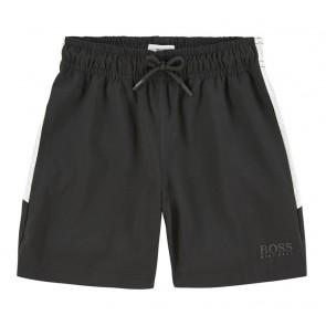 Hugo Boss kids soepele korte broek in de kleur zwart