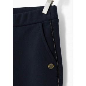 IKKS girls tregging broek met gouden bies in de kleur donkerblauw