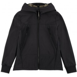 CP Company under sixteen kids soft shell jacket zomerjas in de kleur zwart