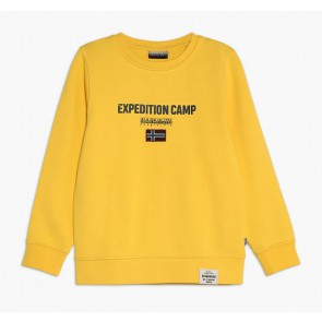 Napapijri sweater trui 'Expedition Camp' in de kleur geel
