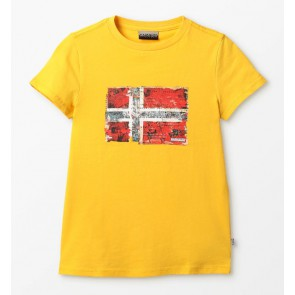 Napapijri t-shirt met vlag in de kleur geel