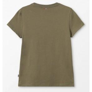 Napapijri t-shirt met vlag in de kleur army groen