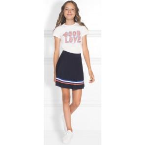 NIK en NIK Good t-shirt met oranje/blauwe details in de kleur wit